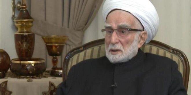وفاة رئيس مجلس الأمناء في تجمع العلماء المسلمين في لبنان القاضي الشيخ أحمد الزين