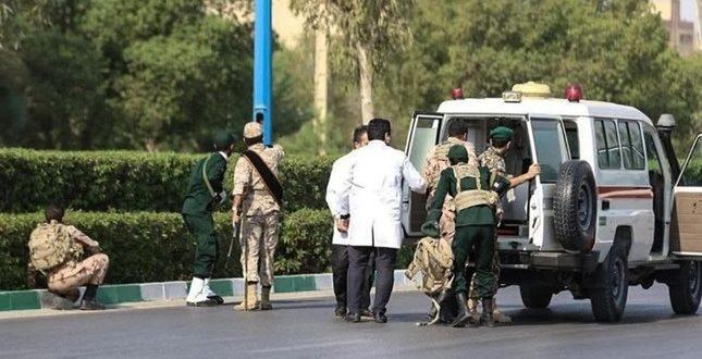 حرس الثورة الاسلامية يتهم جماعة ارهابية مدعومة من السعودية بتنفيذ هجوم ارهابي ضد الاستعراض العسكري في الاهواز