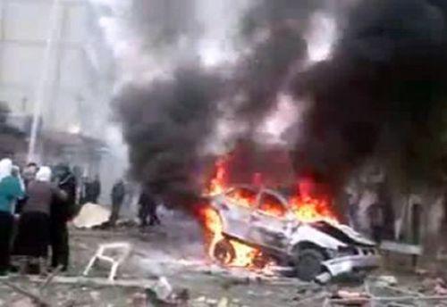 """شريط فيديو : 35  شهيدا وجريحا في تفجير ارهابي بشاحنة مفخخة استهدف """" الشيعة الشبك """" في قرية """" بايبوخت """" بمحافظة نينوى"""
