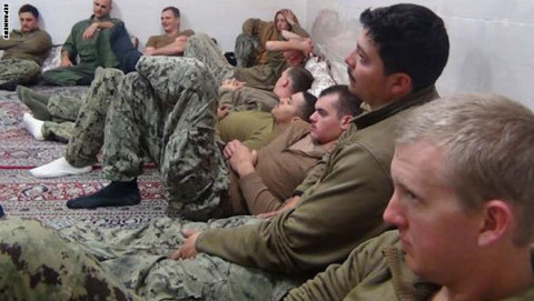US Sailors detained in Iran.