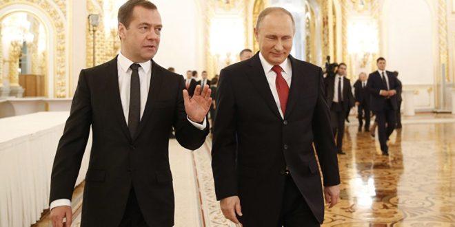 الرئيس بوتين يؤكد ان العقوبات الامريكية ضد روسيا لاشرعية له  ومدفيديف يعلن : انها حرب اقتصادية