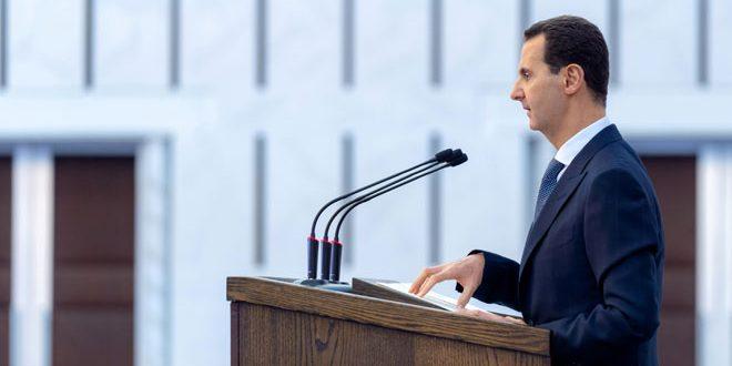 الرئيس بشار الاسد : الحرب لم تنته وبلادنا تخوض 4 أنواع من الحروب