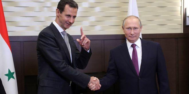 الرئيس بوتين للاسد  : بعد النجاحات في مواجهة الارهاب لابد من العمل لاخراج القوات الاجنبية من سوريا