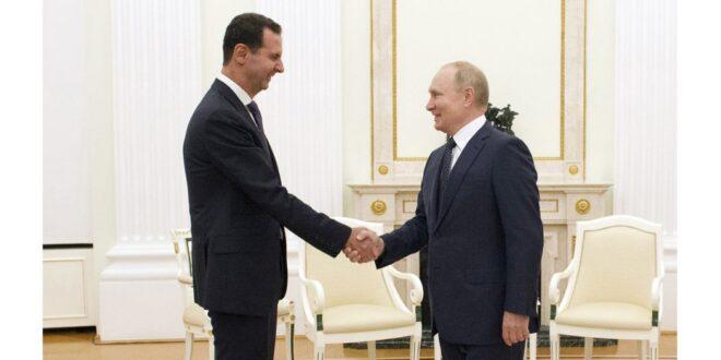 الرئيس السوري يلتقي نظيره الروسي بوتين في زيارة غير معلنة … الاتفاق على خروج القوات الاجنبية غير الشرعية من سوريا
