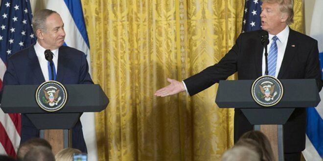 """اعلان ترامب الاعتراف بسيادة الاحتلال الاسرائيلي على الجولان المحتل في تاكيد على """" صهيونية الادارة الامريكية """" والانحياز للاحتلال الاسرائيلي"""
