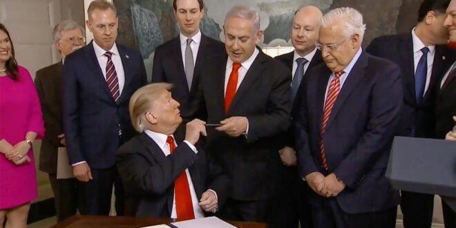 ترامب يسعى لاستقطاب المنظمات الصهيونية لدعم تجديد انتخابه معلنا ان 5 دول عربية أخرى تريد التطبيع مع إسرائيل