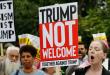 عشرات الالاف من المحتجين ينددون بزيارة ترامب لبريطانيا ويطالبون بطرده من البلاد