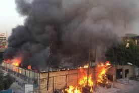 انفجار هائل في مخزن للسلاح تابع للحشد الشعبي للمرة الثانية في كربلاء المقدسة واتهامات لطائرات امريكية مسيرة بتنفيذ العملية