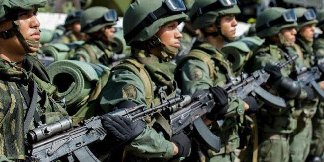 القوات الفنزويلية تعلن حالة التاهب علي طول الحدود لمواجهة محاولات امريكية للتدخل العسكري