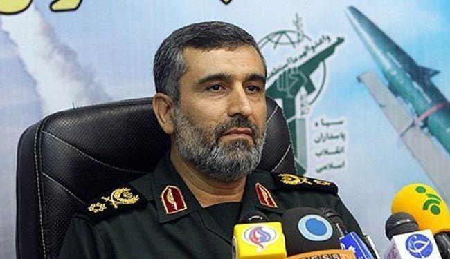 قائد القوة الجو فضائيةالايرانية العميد حاجي زادة : لا أمريكا ولا أي بلد اخر يجرؤ على مهاجمة ايران