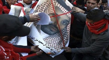 غزة : حشود المتظاهرين الغاضبين يهتفون ضد ترامب وضد نظام ال سعود