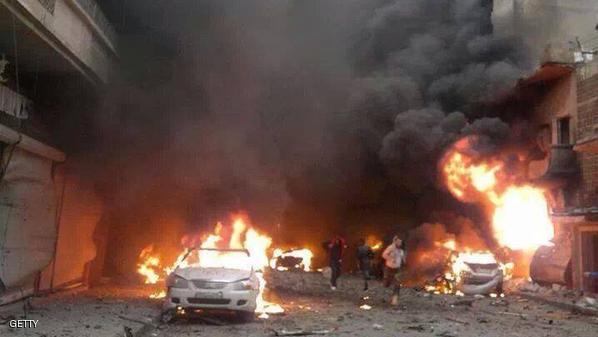 تفجير يستهدف مدنيين في حي الزهراء في حمص والجيش السوري يحرر 48 مختطفا في الرقة بينهم ضباط