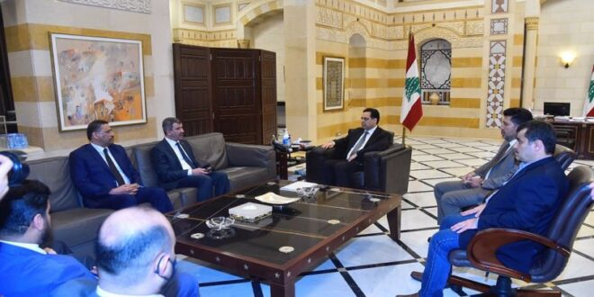 الرئيس دياب استقبل وفدا عراقيا واطلع منه على المساعدات النفطية والطبية المقدمة الى لبنان في فاجعة اثار انفجار مرفأ بيروت
