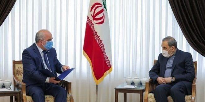 رسالة من الرئيس بوتين الى مرشد الثورة الاسلامية اية الله خامنئي تتعلق بتطوير العلاقات الثنائية بين البلدين