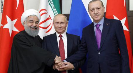 قمة بوتين – روحاني – اردوغان : الاتفاق على اطلاق حوار سياسي وطني لانهاء الازمة في سوريا