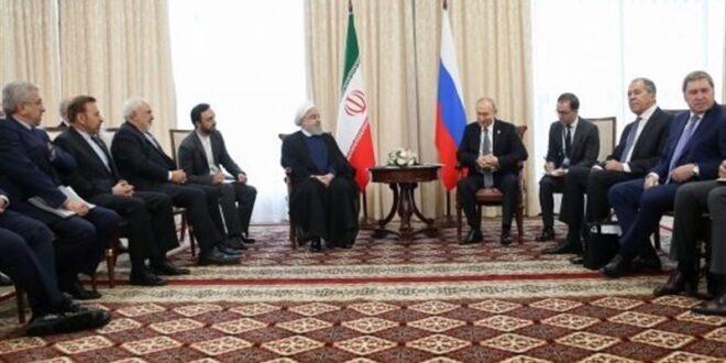 الرئيس روحاني يصف علاقات ايران بروسيا : مثالية ومتنامية في جميع المجالات