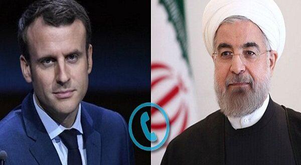 الرئيس روحاني لنظيره الفرنسي ماكرون : السبيل الوحيد للحفاظ على الاتفاق النووي واحيائه هو رفع إجراءات الحظر الأميركية .. ولا مفاوضات مجددا بشانه