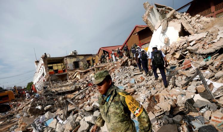 زلزال المكسيك.. ارتفاع عدد ضحاياه إلى 226 قتيلا ومئات الجرحى وانهيار وتدمير مبان وطرقات