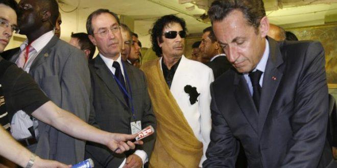 الشرطة الفرنسية تحتجز الرئيس السابق ساركوزي للتحقيق باستلامه اموال من القذافي لتمويل حملته الانتخابية في 2007