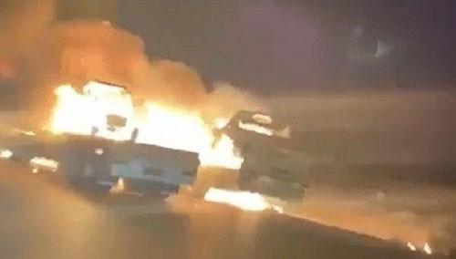 تفجيران في ذي قار يستهدفان رتلا للدعم اللوجستي للقوات الامريكية في العراق