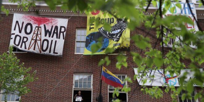 السلطات الامريكية تقطع المياه عن مبنى سفارة فنزويلا في واشنطن