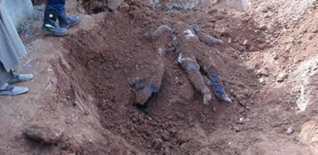 العثور على مقابر جماعية لضحايا الجماعات الارهابية في حلب عليها اثار تعذيب وحشي او بترت اعضاؤها