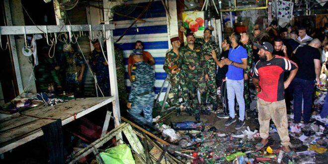 خلية الاعلام الامني تعلن عن اعتقال الارهابيين منفذي تفجير سوق الوحيلات الشعبي