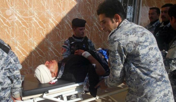 37 شهيدا وعشرات الجرحى من الشرطة الاتحادية في تفجير انتحاري بمدرعة مفخخة استهدف مقر الشرطة الاتحادية قرب الفلوجة