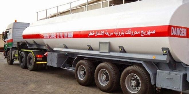 وصول صهاريح الوقود التي ارسلها الشعب العراقي الى لبنان ضمن مساعداته المختلفة له لمواجهة الاثار المدمرة لانفجار مرفأ بيروت