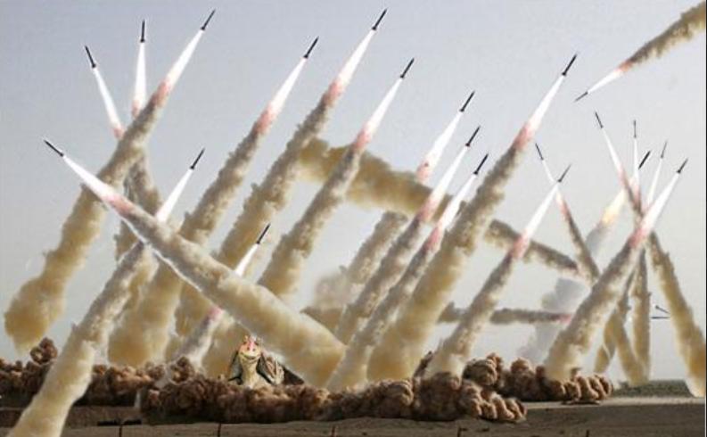 المتحدث باسم القوات المسلحة الايرانية محذرا  : تل أبيب وحيفا سنسويها بالأرض فورا اذا  ارتكبت إسرائيل أي خطأ ضد إيران