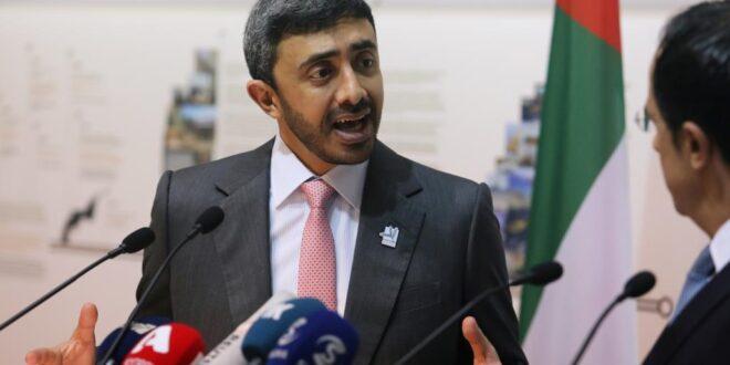 وزير الخارجية الاماراتي عبد الله بن زايد يتراجع عن اتهام ايران بالوقوف وراء تفجير ناقلتي النفط في بحر عمان