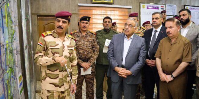 """عادل عبد المهدي يشرف على اطلاق المرحلة الثانية  من """" عملية ارادة النصر """" ضد فلول داعش الارهابي"""
