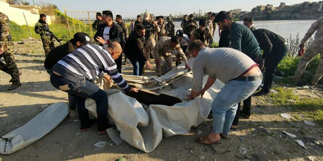فيديو : ارتفاع عدد ضحايا غرق العبارة في الموصل الى 85 شخصا