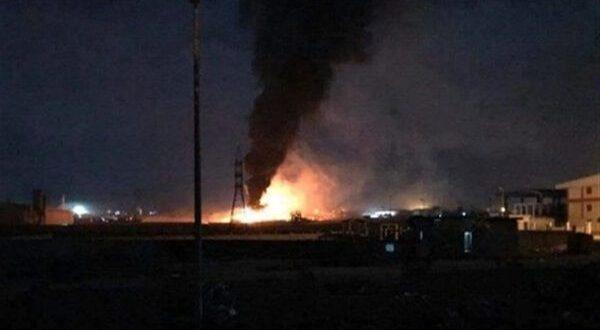طائرة مجهولة تستهدف مخازن العتاد للحشد الشعبي في قاعدة بلد الجوية وتوقعات انها تمت اثر غارة اسرائيلية