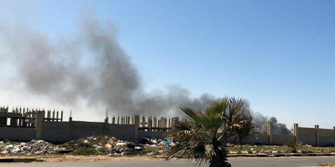 """قوات الوفاق تبدأ عملية للسيطرة على """" قاعدة الوطية """"  140 كيلومترا جنوب غرب طرابلس"""