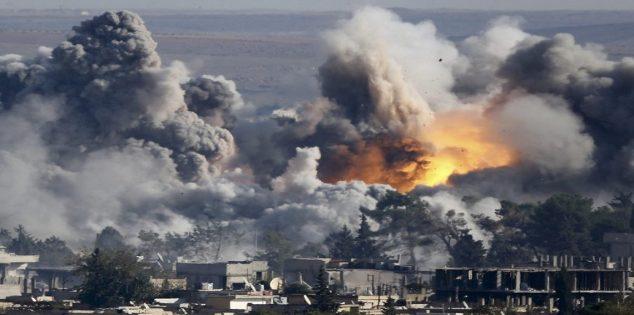 المقاتلات الروسية تقصف مستودعا للذخائر والاسلحة تابع لهيئة تحرير الشام في ادلب