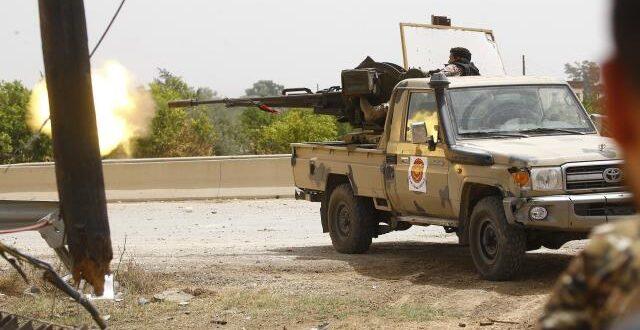 قوات حفتر تفقد مواقع لها في منطقة متاخمة لمطار طرابلس في سلسلة هزائم هذه القوات امام قوات حكومة الوفاق