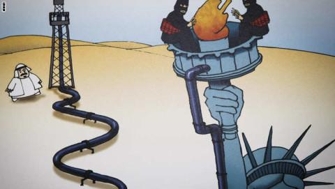 كاركاتير داعش ونفط الخليج