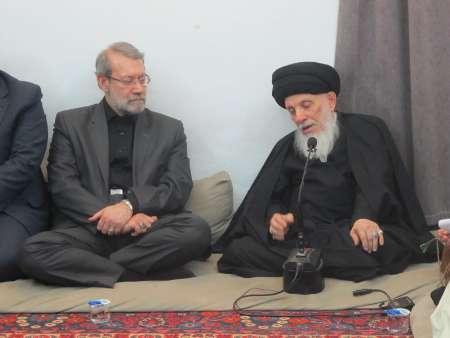 لاريجاني مع محمد سعيد الحكيم