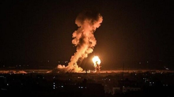 قصف مطار اربيل بطائرة مسيرة وصحيفة امريكية تؤكد استهداف قاعدة امريكية في المطار