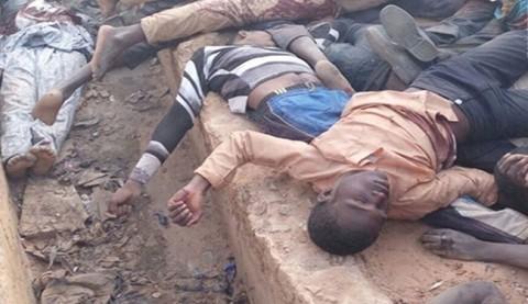بعض ضحايا مجزرة زاريا (ارشيف)