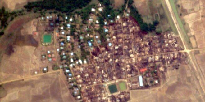 صور أقمار صناعية تظهر إبادة قرية لمسلمي الروهينغيا على يد جيش ميانمار وسط صمت دولي
