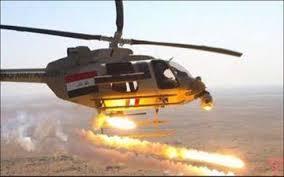 خلية الاعلام الامني : قيادة عمليات الانبار تجري عمليات تفتيش لوادي الخزيمي التي قصفها سلاح الجو العراقي