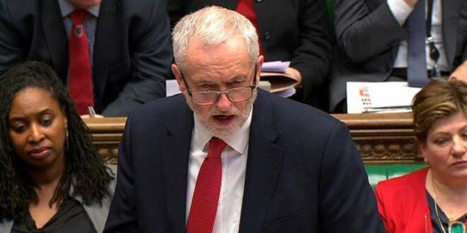 """زعيم المعارضة البريطانية يتهم رئيسة الوزراء """" تيريزا ماي """" بانها مهندسة الازمة في البلاد"""