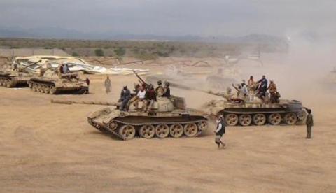يمن دبابات حوثيين