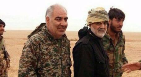 استشهاد اللواء خير الله صمدي من قادة حرس الثورة الاسلامية بعد اصابته بشظايا في البوكمال