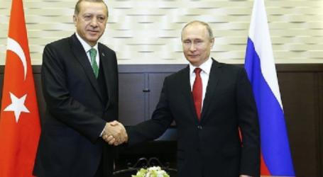 الرئيس بوتين ونظيره التركي اردوغان يبحثان الاوضاع في المنطقة والتسوية في الشرق الاوسط واثار قرار ترامب بشان القدس