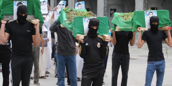 تظاهرات حاشدة في البلدات البحرانية تمجيدا للشهداء الثلاثة الذين قتلهم النظام الديكتاتوري في مياه الخليج