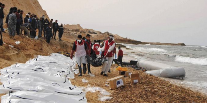ارتفاع حصيلة غرق زورق للمهاجرين قبالة الشواطئ التونسية الى 48 قتيلاً