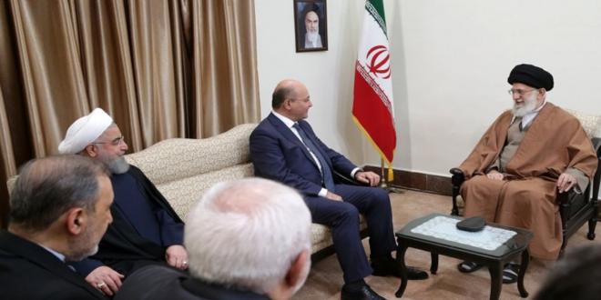 اية الله الخامنئي مستقبلا الرئيس برهم صالح : هناك حكومات ودول لاتريد للعراق ان ينعم بالاستقرار ونحن سنبقى دائما الى جانب اشقائنا العراقيين